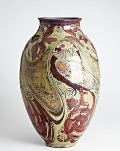 Beautiful Art Nouveau, Liberty style, vase by Galileo Chini, Italy.