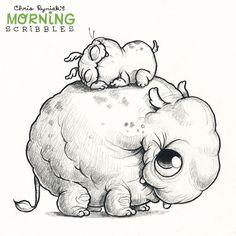 Chris Ryniak is creating Friendly Monster Drawings! Fairy Drawings, Art Drawings Sketches, Cartoon Drawings, Cute Drawings, Cute Monsters Drawings, Cartoon Monsters, Little Monsters, Doodle Monster, Monster Drawing