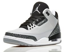 Buy Authentic Air Jordan Wolf Grey Retro 3s Men Footwear