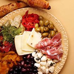 Antipasto Misto...the very best for guests....or for a diet LOL add prosciutto and marinated artichoke hearts, other meats and broiled sliced portobello with a balsamic, soy glaze
