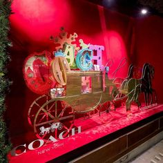 """SELFRIDGES, London, UK, """"Inspired by the Holiday Parade Floats..."""", for Coach, creative by Harlequin Design, pinned by Ton van der Veer"""
