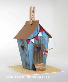 """Ein Haus für alle Fälle: Stampin' Up Framelits """"Zu Hause"""" : Strandhäuschen/ beach house with Stampin Up home sweet home dies"""
