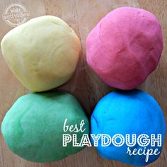 Easy Playdough Recipe - Kids Activities Blog Best Playdough Recipe, Homemade Playdough, Play Based Learning, Kids Zone, Play Doh, Clay Food, Inspiration For Kids, Activities For Kids, Diy Clay
