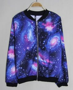 Image of Nice Blue Gradient Universe Star Jacket &Sweater