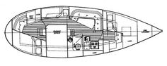 Nor'Sea 37 Interior Yacht Builders, Sailboat, Floor Plans, How To Plan, My Style, Interior, Sea, Image, Sailing Boat