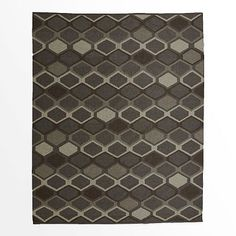 Concentric Diamond Wool Kilim Rug #westelm this is a lilim but i like the pattern