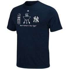 Your Dad is a fan of having control of the remote, delicious barbecue and the Yankees, so give him everything he's always wanted on Father's Day with this Lucky Guy tee from Majestic!