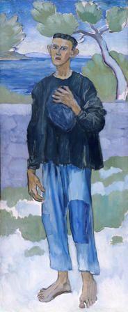 Um pescador francês. Cerca de 1907. Óleo sobre tela. Augustus Edwin John (Tenby, País de Gales, UK, 04/01/1878 - 13/10/1961, Fordingbridge, condado de Hampshire, Inglaterra, UK). Encontra-se no Museu Nacional do Pais de Gales, Reino Unido.
