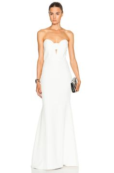 Mason by Michelle Mason Bustier Dress in Ivory