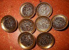 Set 8 Vintage Archid Avst Dux Buro Co TYR 1780 x Metal Blazer Jacket Buttons | eBay