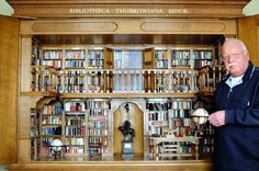 You can visit this miniature library in Museum Meermanno in The Hague, The Netherlands.