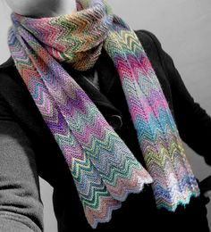 (Photo: Christy Kamm) Christy Kamm has just released a fabulous new scarf on Ravelry! Created in the style of iconic Italian designer, Missoni, the ZickZack Scarf is easier to knit than it looks....