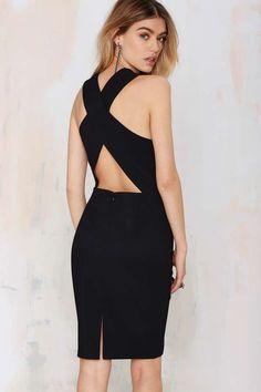 Cutout Bodycon Dress - Black - LBD