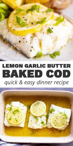 Recipes Fish Impress your family for dinner tonight with this incredibly easy Garlic Butter Lemon Baked Cod! With the zesty lemon and the rich garlic butter sauce, this will get the thumbs-up from even the pickiest eaters. Salmon Recipes, Seafood Recipes, Cooking Recipes, Healthy Recipes, Diet Recipes, Haddock Recipes, Steak Recipes, Fish Dinner, Gastronomia