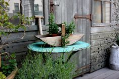 Google Image Result for http://files.idealhomegarden.com/files/commons/rustic_outdoor_decor_ideas_basket_hamer_flowers.jpg