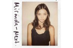 miranda kerr model agency polaroids