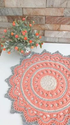 Crochet Table Mat, Crochet Doily Rug, Crochet Squares, Thread Crochet, Diy Crochet, Vintage Crochet, Crochet Summer, Free Crochet Doily Patterns, Project List
