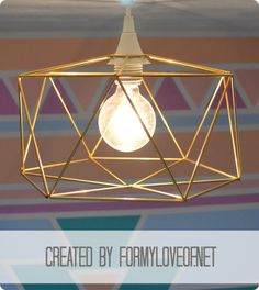 DIY himmeli-inspired geometric pendant light