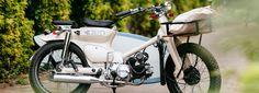 the deus sea sider custom bike is 70's super cub for surfers