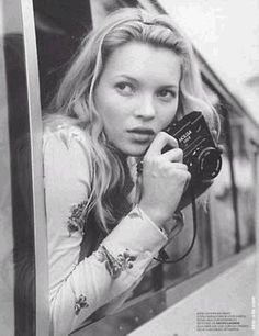 Kate Moss with a Holga  www.facebook.com/adrianshieldsphoto