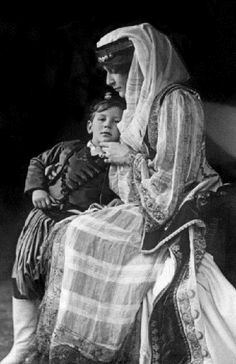 Princess Marie Bonaparte (1882-1962) was french author and psychoanalyst with her son Prince Peter of Greece in the 1913's