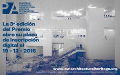 III Premio Europeo de Intervención en el Patrimonio Arquitectónico AADIPA. Convocatoria