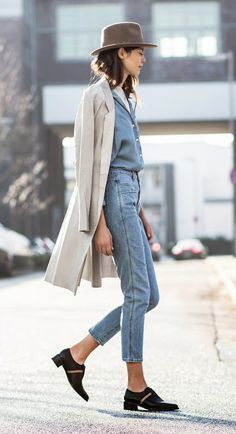 Obsessed with this double denim look. Street Style Outfits, Looks Street Style, Looks Style, Street Style Inspiration, Inspiration Mode, Denim Fashion, Look Fashion, Autumn Fashion, Net Fashion