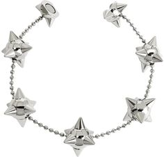 DSquared2  Pierce Me Palladium Plated Metal Spiked Chain Armlet