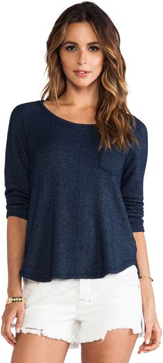 Splendid Soft Melange French Terry Sweatshirt is on sale now for - 25 % !this Sweatshirt