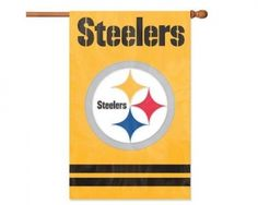 Party Animal Pittsburgh Steelers Applique Banner Flag. #NFL #Football #tailgating