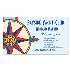 Yacht Club, Sailing Club, Marina, Nautical Shop Business Cards