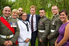 My Auntie, having fun with HRH Prince Harry and RNRM members of JFC Naples. 70th Anniversary of Monte Cassino http://pic.twitter.com/gOWeDSdro0