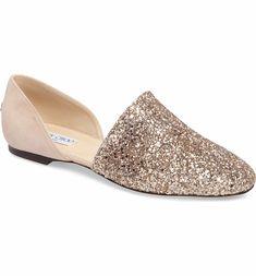 bc632ab62d97 Jimmy Choo Globe Glitter Flat (Women) Bridal Wedding Shoes