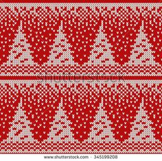 Find Knitted Seamless Pattern stock images in HD and millions of other royalty-free stock photos, illustrations and vectors in the Shutterstock collection. Knitting Charts, Knitting Patterns Free, Free Knitting, Knitting Ideas, Knitted Christmas Stockings, Christmas Knitting, Christmas Tree And Dogs, Christmas Crafts, Cross Stitch Embroidery
