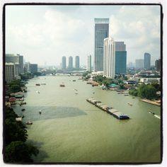 Chao Phraya River, Bangkok. From the Royal Orchid Sheraton