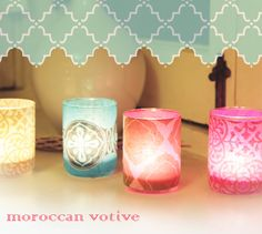 The Divine Minimalist: diy wednesday: moroccan inspired votive Diy For Kids, Crafts For Kids, Arts And Crafts, Paper Crafts, Home Crafts, Diy Crafts, Mason Jar Candles, All Family, Do It Yourself Projects