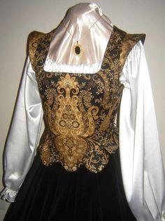 Elizabethan Renaissance Gown - Bodice and Velvet Skirt - Ready to Ship. $189.99, via Etsy.
