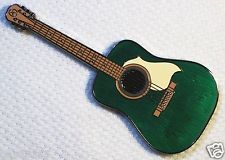Acoustic Guitar - Green Edition by Landshakz, New Unactivated geocoin