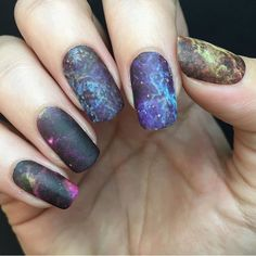 Space: the final frontier. These are the nail wraps of the M42, also known as the Orion Nebula. Their mission: to adorn your nails, to seek out and create new stars, to beautifully go where no manicur
