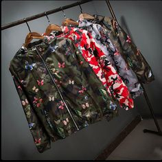 Camo Windbreaker Jacket Thin Camouflage