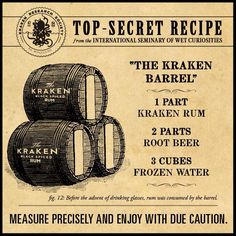 Kraken rum and root beer