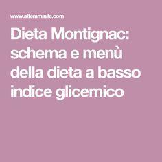 Dieta Montignac: schema e menù della dieta a basso indice glicemico