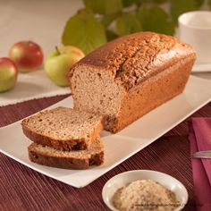 Apfel-Walnuss-Kuchen Banana Bread, Desserts, Food, Breads, Whole Wheat Flour, Apple Crumble Recipe, Gingerbread, Oven, Dessert Ideas