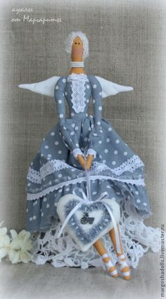 """Куклы Тильды ручной работы. Ярмарка Мастеров - ручная работа Ангел """"Лорейн"""". Handmade."""