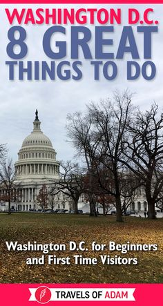 Highlights and travel tips for Washington, D. - a surprisingly hip city with a lot more than just politics to see. Here's what first-timers need to know! Usa Culture, Destinations, National Mall, Win A Trip, Historical Monuments, Park Hotel, Countries Around The World, American, Time Travel