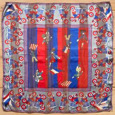 80s 'Lanvin - Paris' silk scarf.