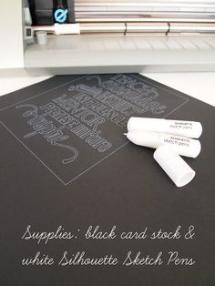 @Ginger @ GingerSnapCrafts.com -cool board!  supplies: black card stock and white Silhouette Sketch Pens=awesome!