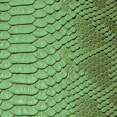 Green Faux Viper Sopythana Snake Skin Vinyl Fabric