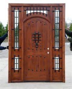wood doors with hardware rustic images - Google Search