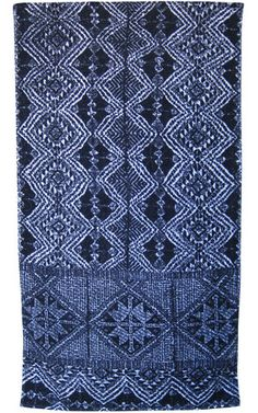 African Batik Bath Towels in Indigo and White design by Fresco Towels